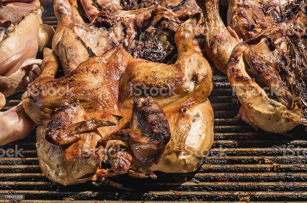 Roasted grilled Chicken royalty-free stock photo