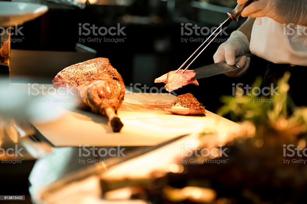 Roasted meat stock photo