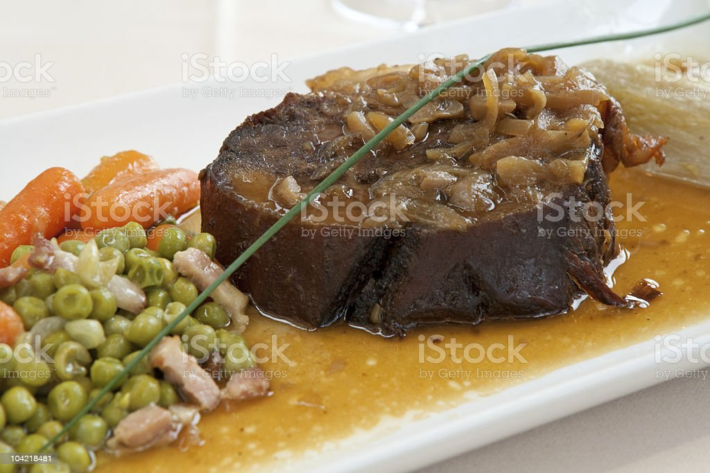 Roasted meat steak royalty-free stock photo