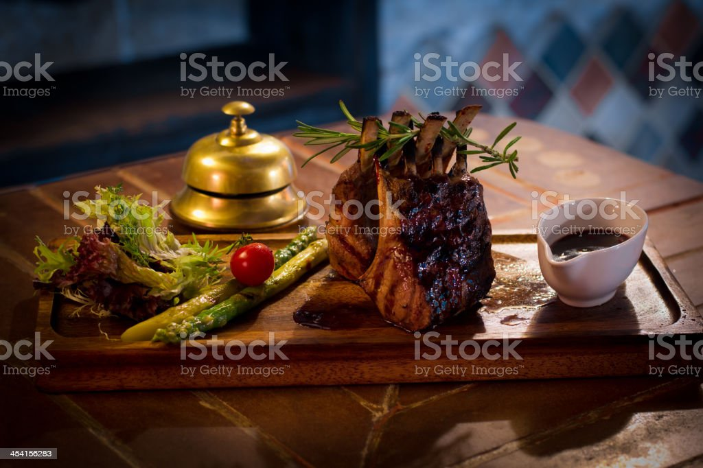 Roasted meat with vegetables royalty-free stock photo