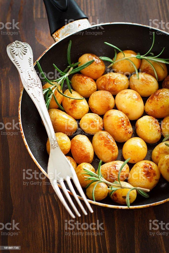 Roasted New Potatoes royalty-free stock photo