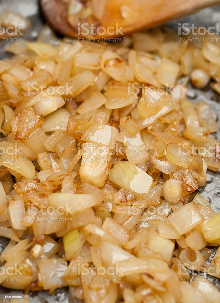 Roasted onion stock photo
