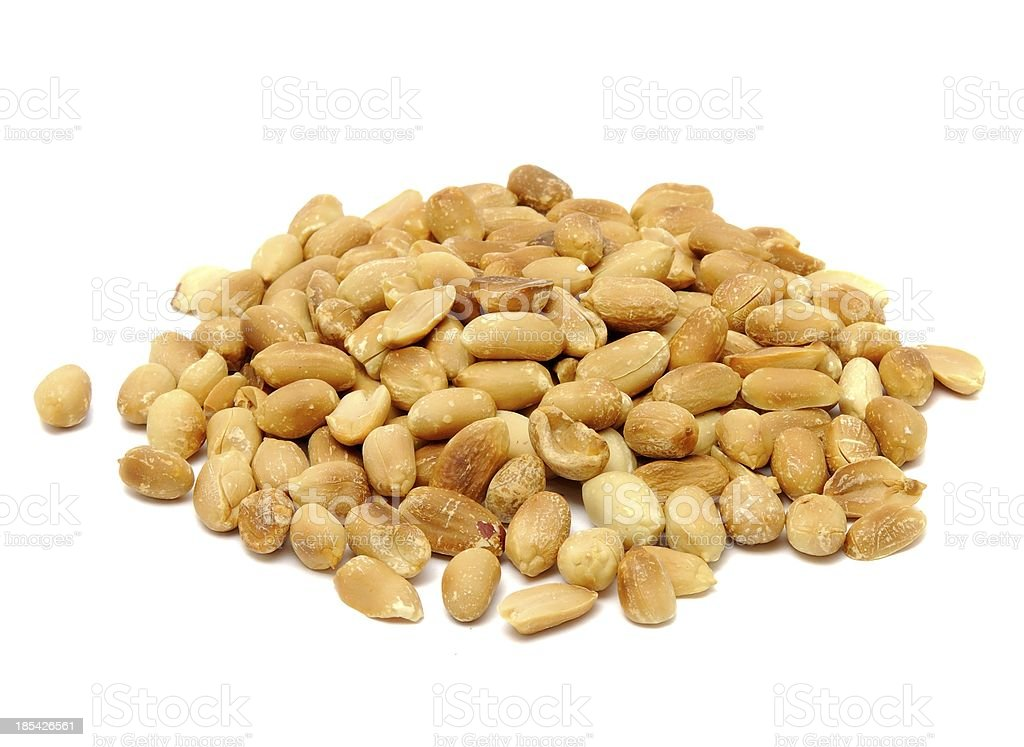 Roasted Peanuts Isolated on White Background royalty-free stock photo