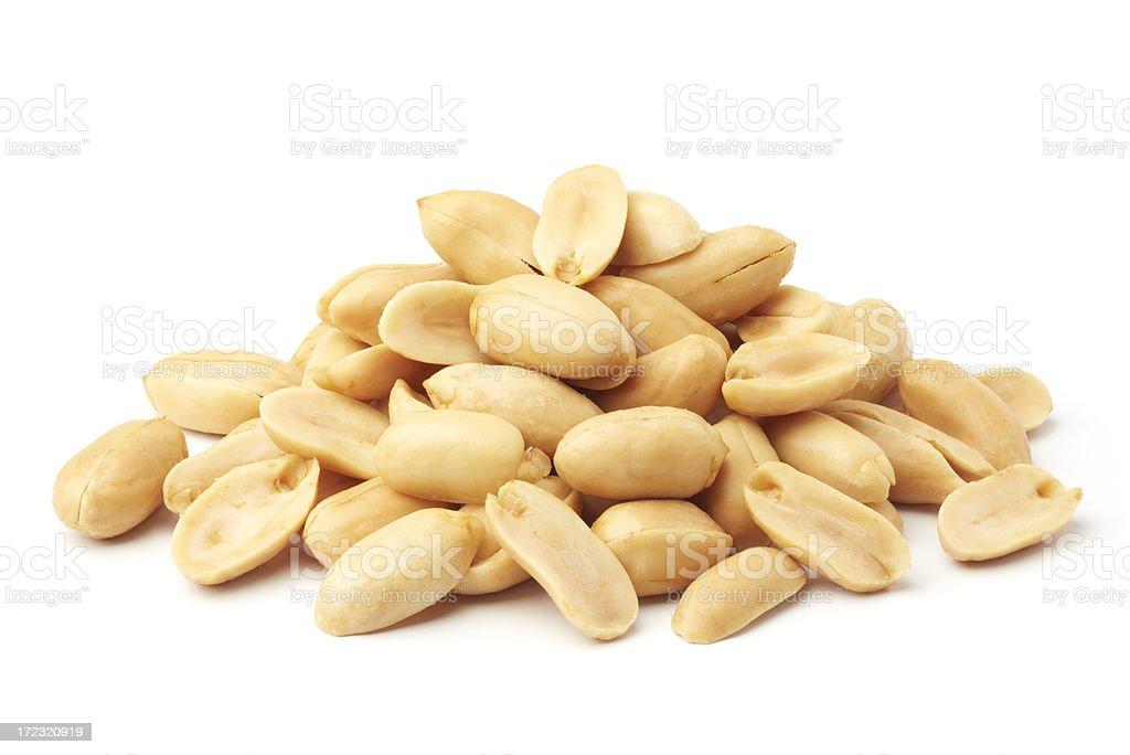 roasted peanuts stock photo
