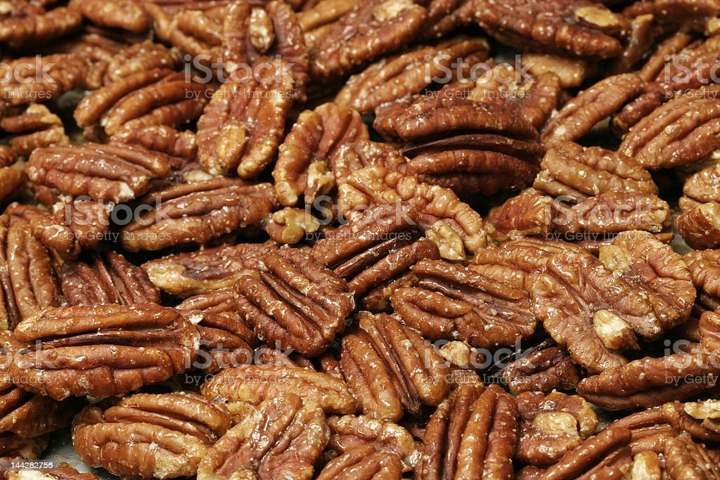 Roasted Pecans royalty-free stock photo