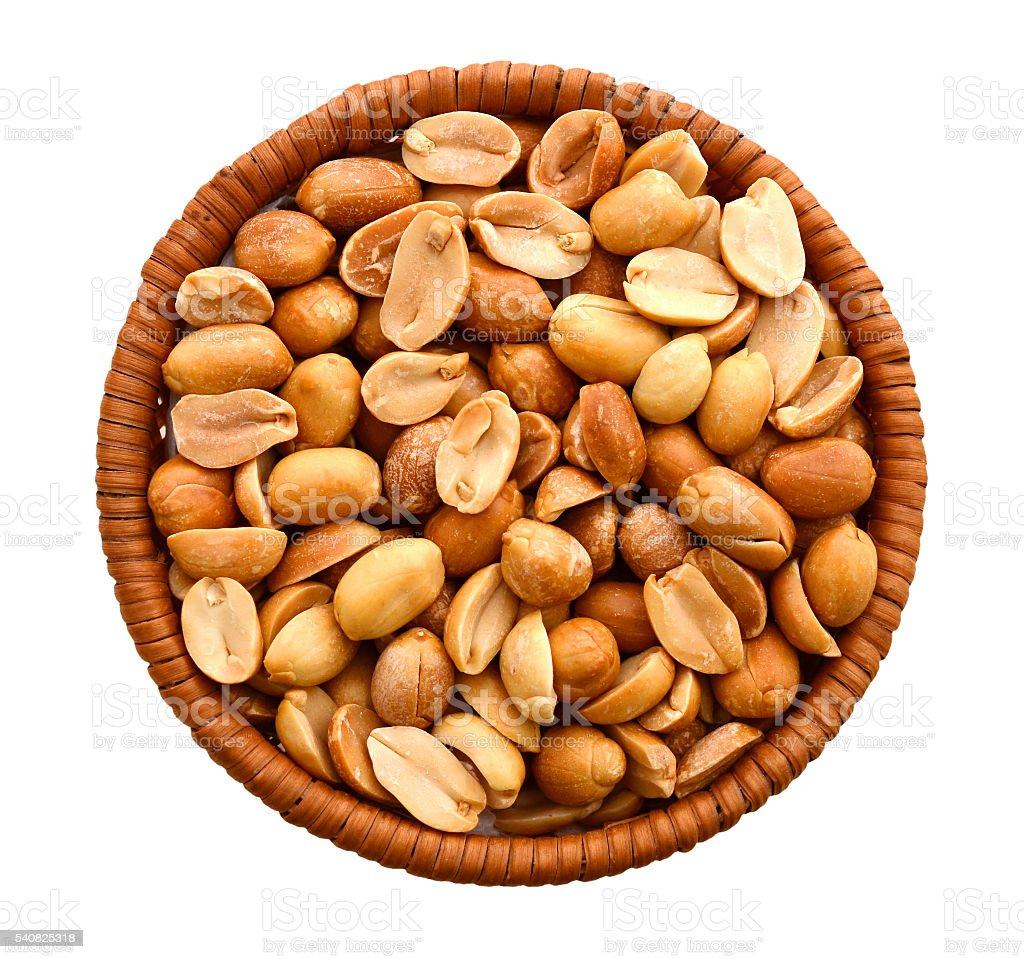 Roasted peeled unsalted peanuts stock photo
