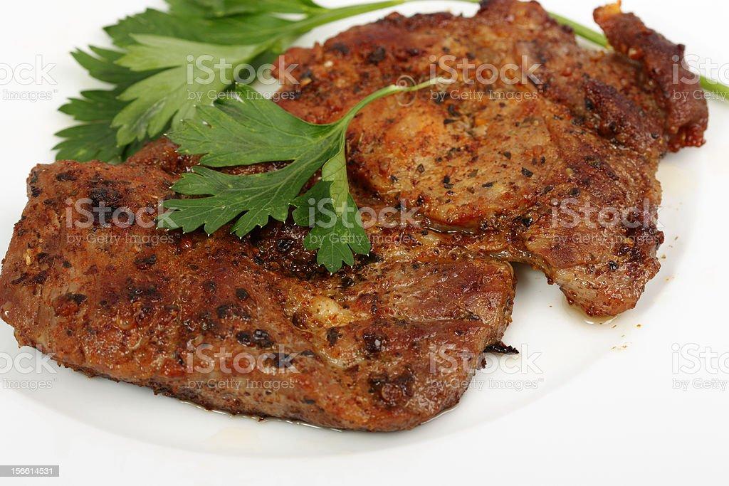 Roasted Pork Chops royalty-free stock photo