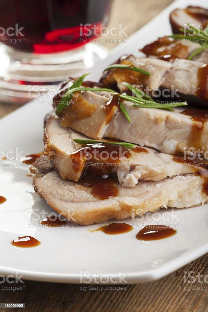 roasted pork dish royalty-free stock photo