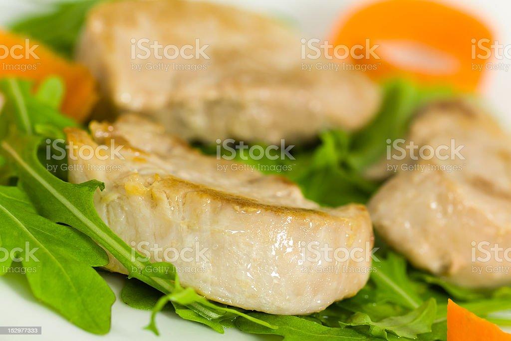 roasted pork fillet - tenderloin with vegetables royalty-free stock photo