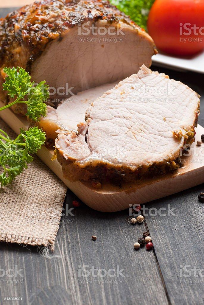 Roasted pork stock photo