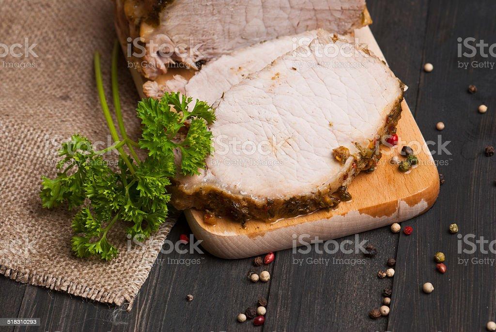 Cerdo asado foto de stock libre de derechos