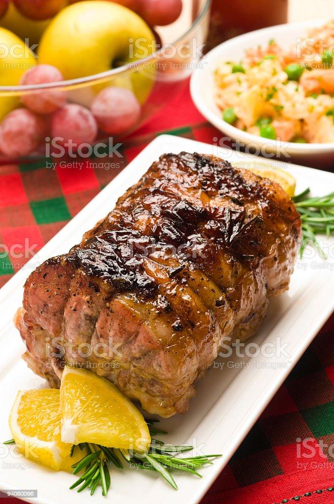 Roasted Pork royalty-free stock photo