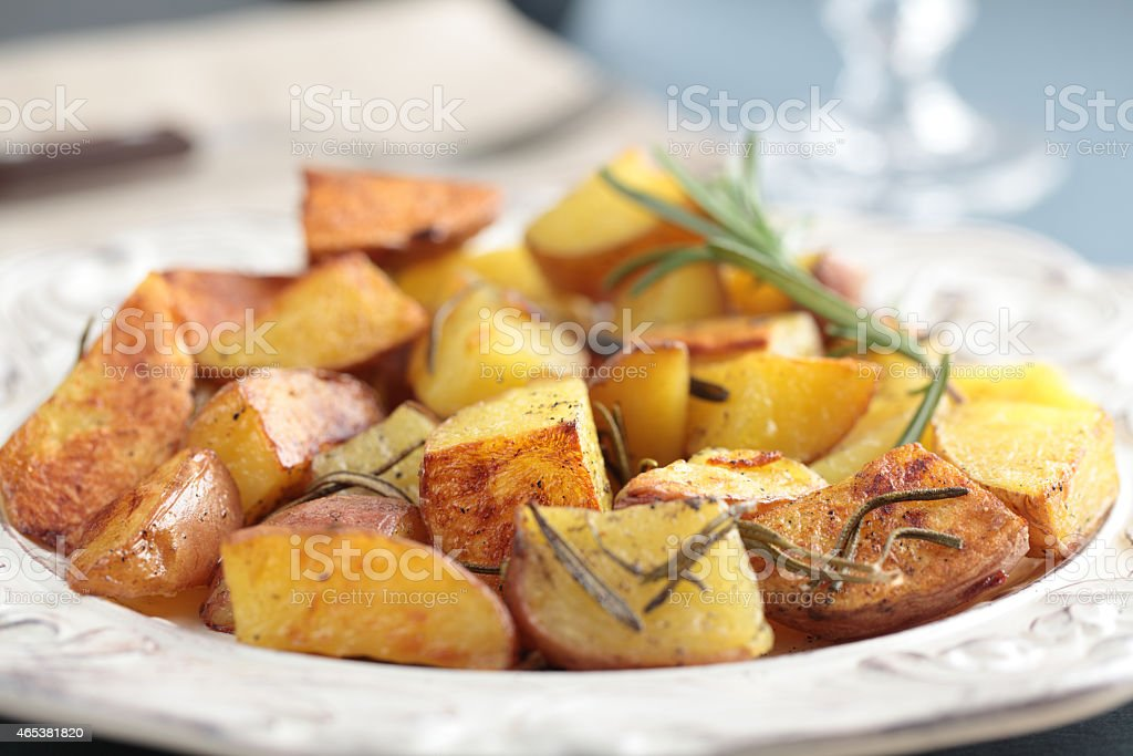 Roasted potato stock photo