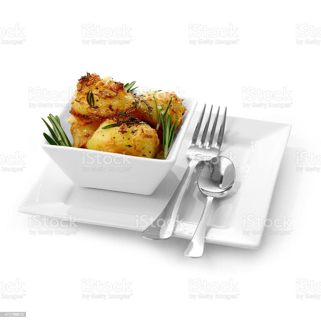 Roasted Potatoes 2 royalty-free stock photo