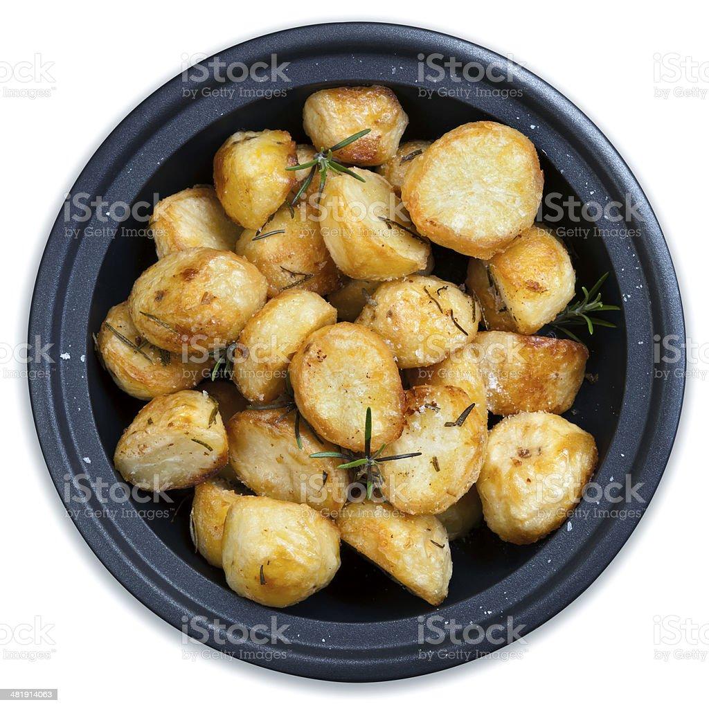 Roasted Potatoes Isolated royalty-free stock photo