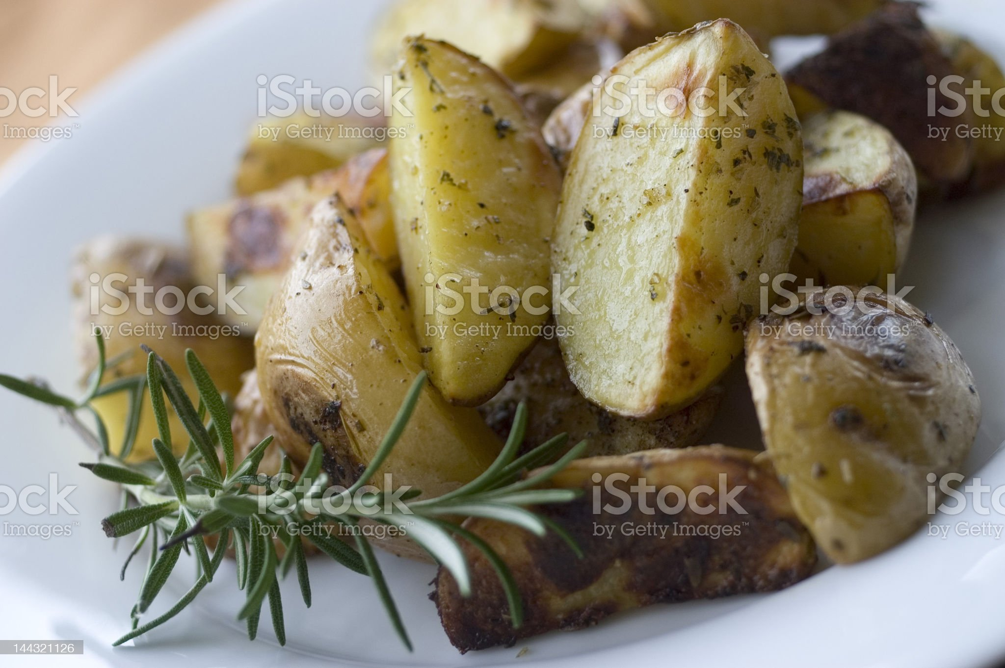 roasted potatoes royalty-free stock photo