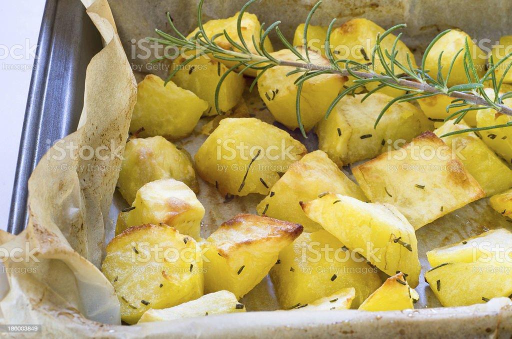Roasted potatoes royalty-free stock photo