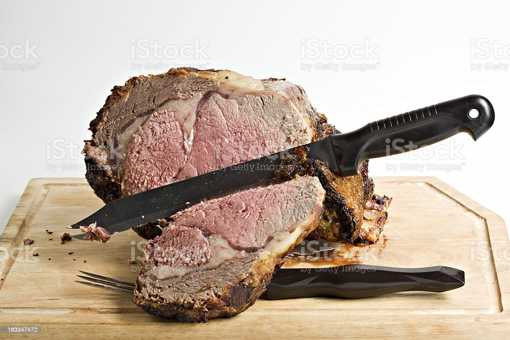 Roasted Prime Rib Beef Isolated royalty-free stock photo