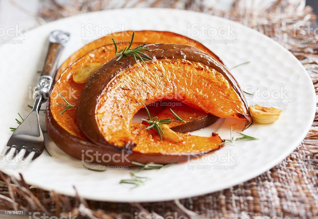 roasted pumpkin royalty-free stock photo