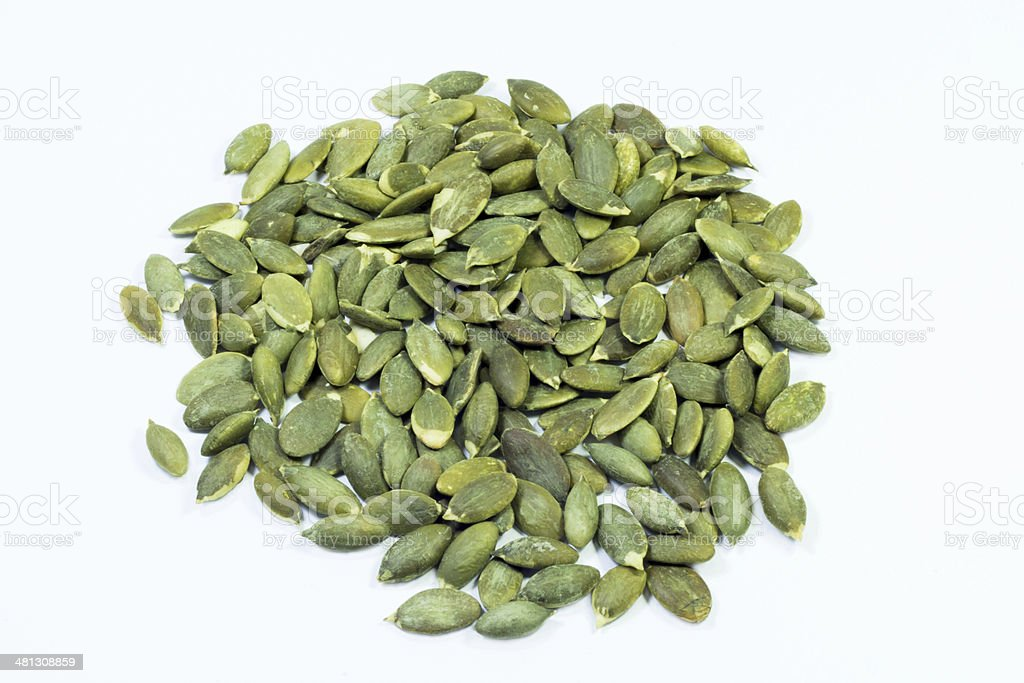 roasted pumpkin seeds royalty-free stock photo