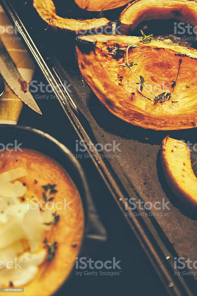 Roasted Pumpkin soup royalty-free stock photo