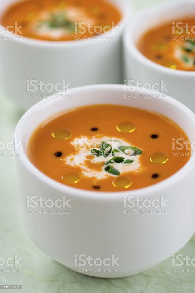 Roasted Red Pepper & Tomato Soup royalty-free stock photo