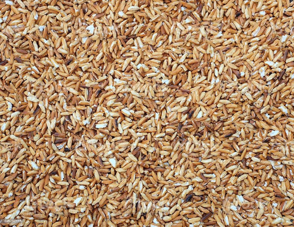 roasted rice background stock photo