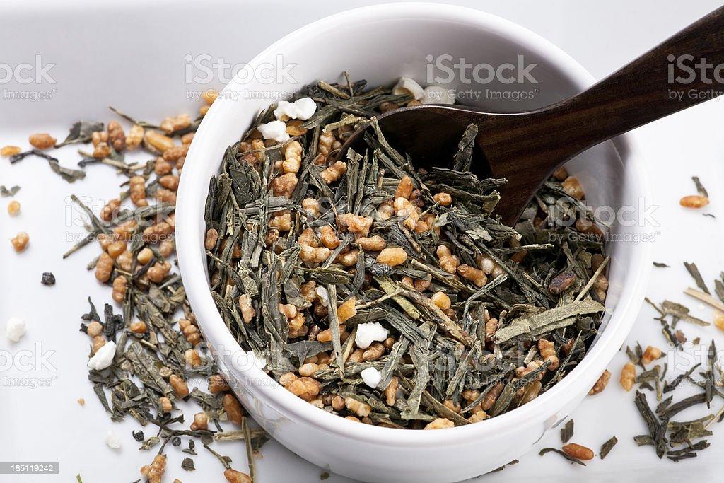 roasted rice tea stock photo