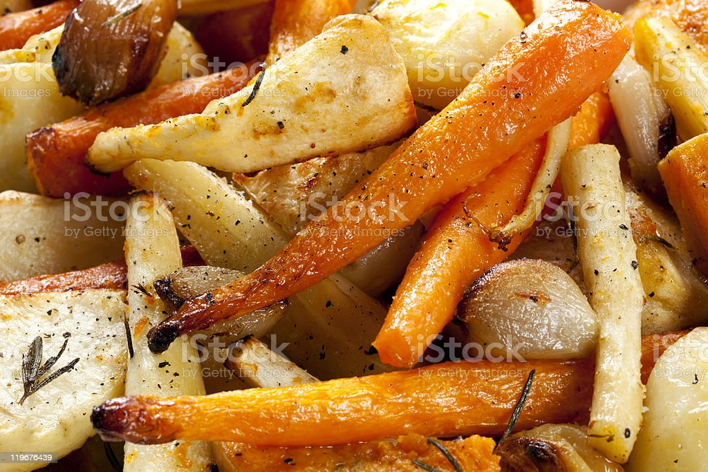 Roasted Root Vegetables royalty-free stock photo