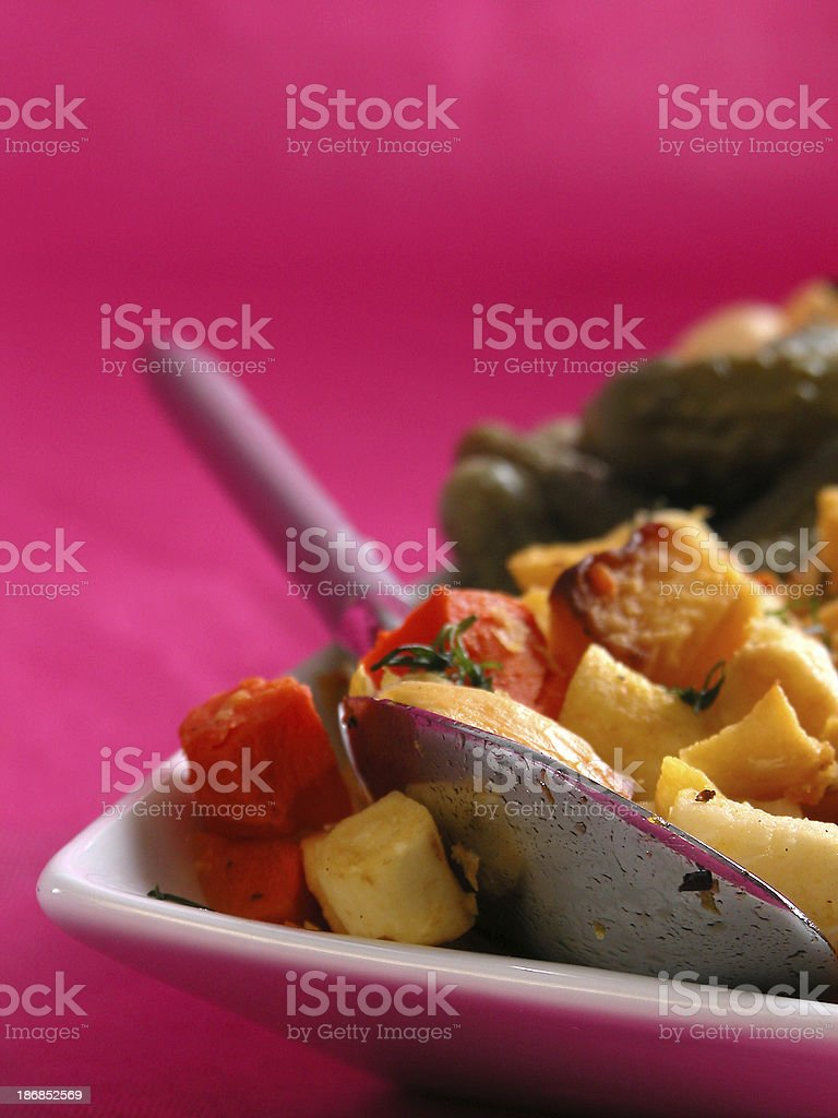 Roasted Roots stock photo