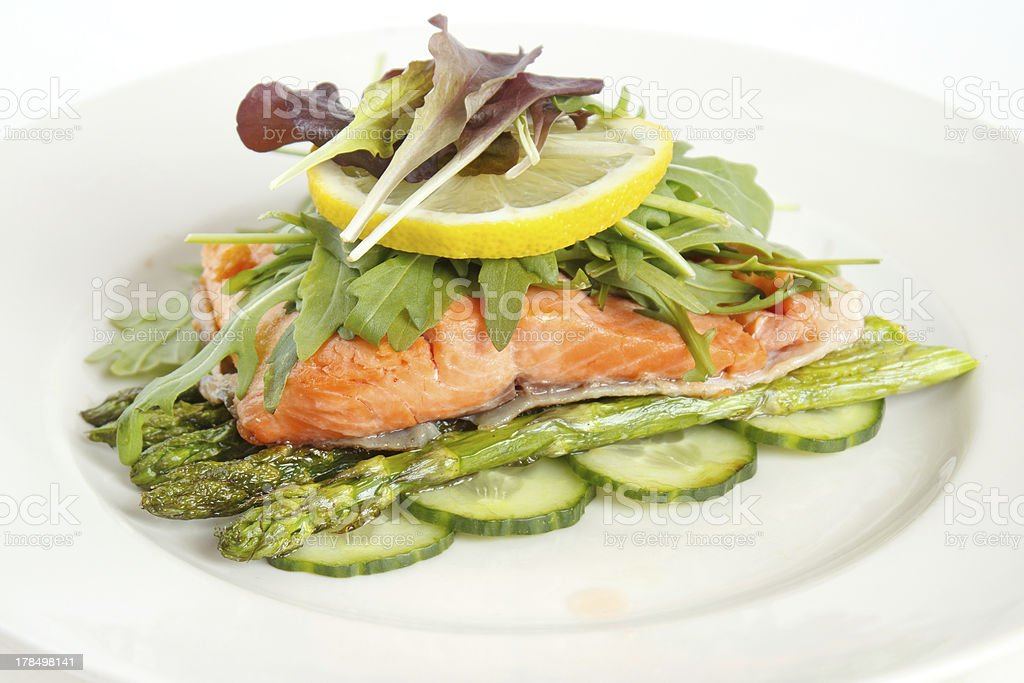 Roasted salmon fillet royalty-free stock photo