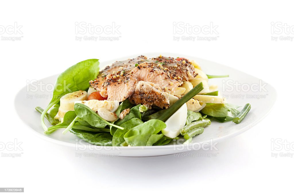 Roasted Salmon Salad stock photo