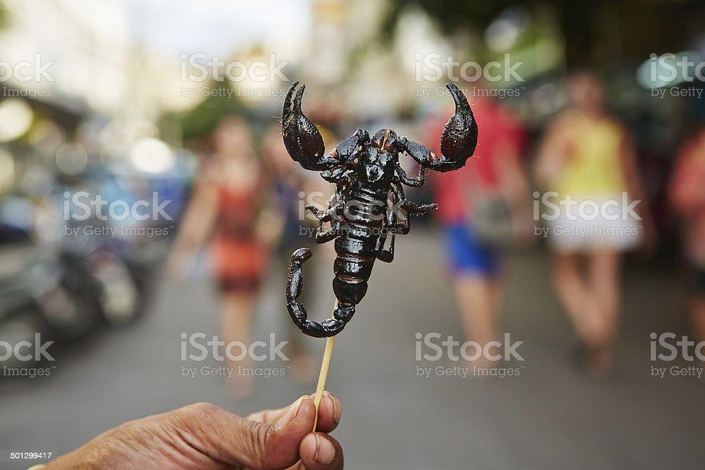 Roasted scorpion stock photo
