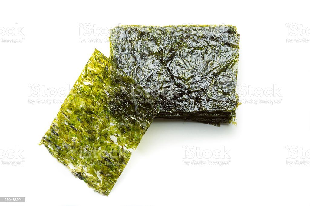 Roasted seaweed sheets stock photo