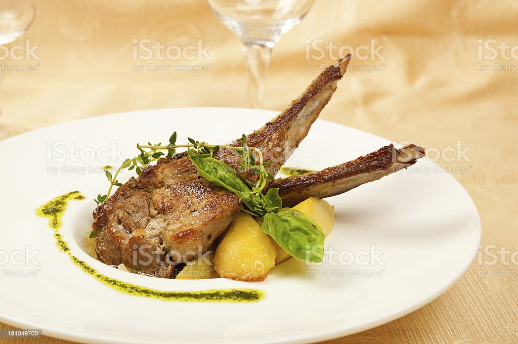 Roasted sheep meat royalty-free stock photo