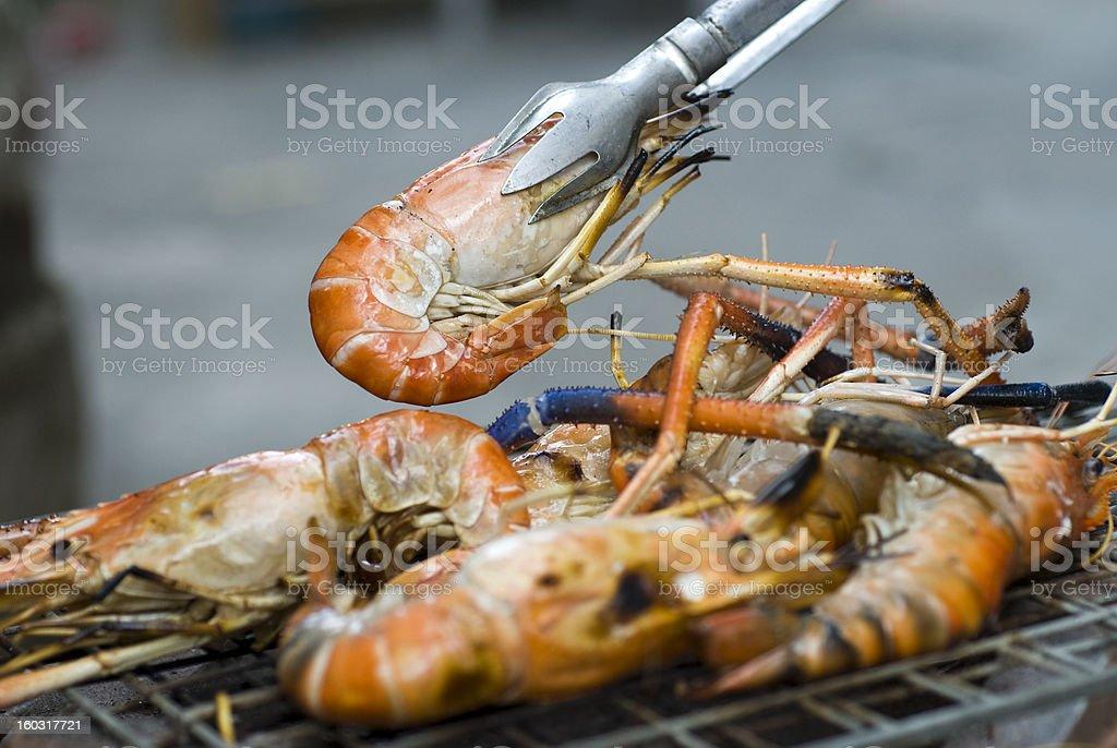 Roasted Shrimp royalty-free stock photo