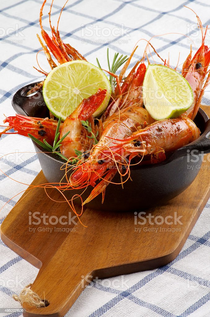 Roasted Shrimps stock photo