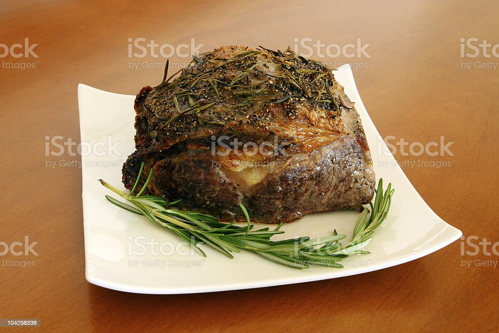 Roasted Sirlion seasoned with herbs royalty-free stock photo