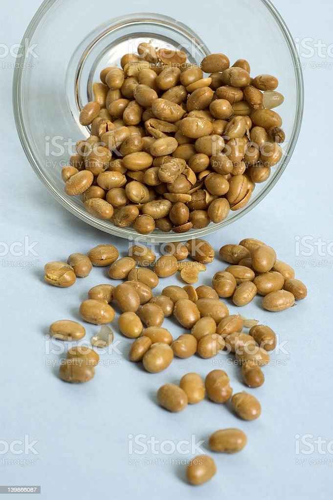 Roasted soy beans royalty-free stock photo
