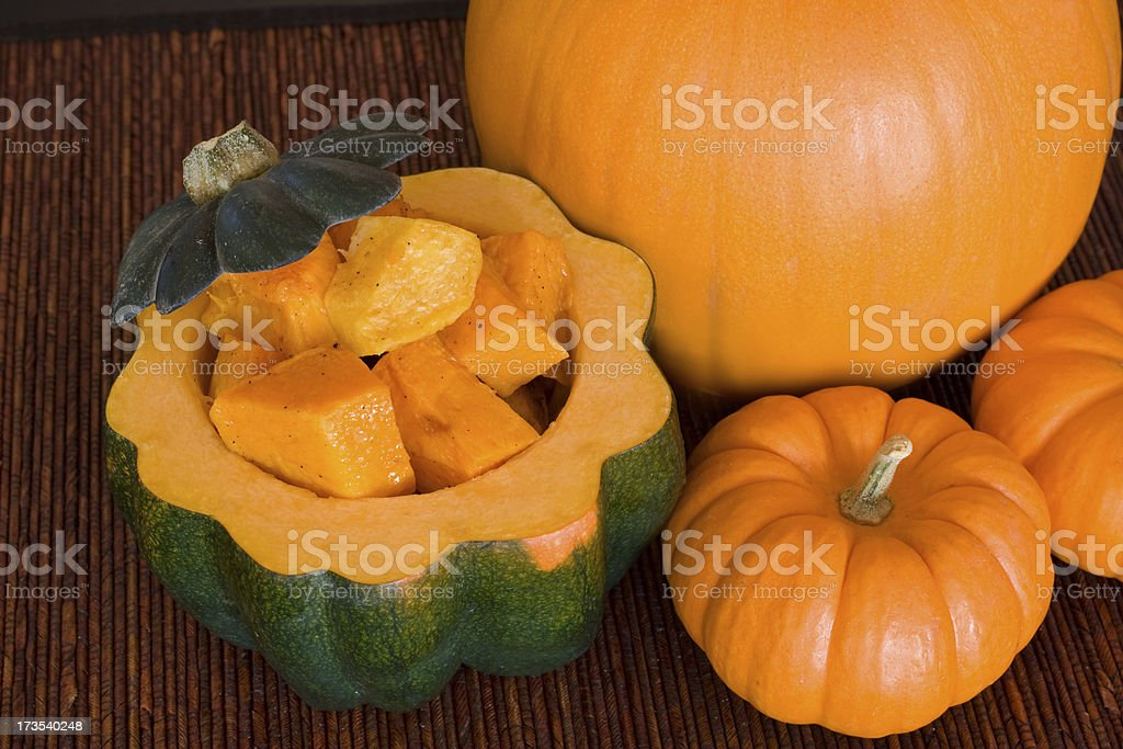 Roasted Squash and Pumpkins royalty-free stock photo