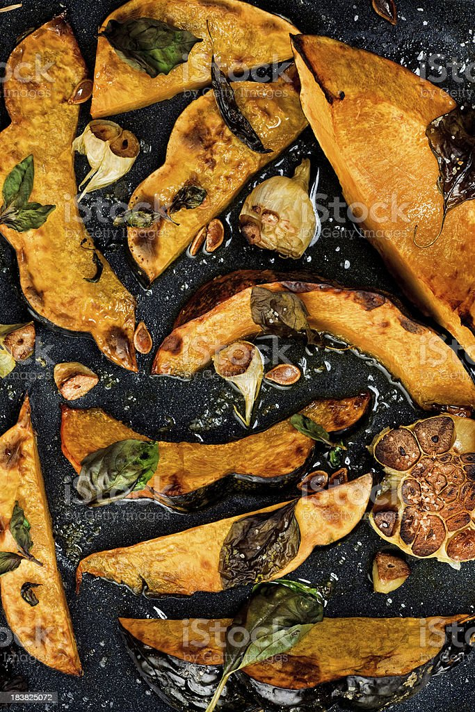 Roasted squash stock photo