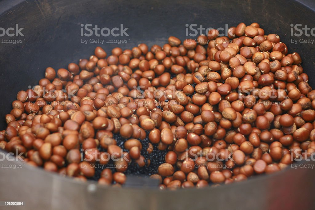 Roasted Sweet Chestnuts royalty-free stock photo