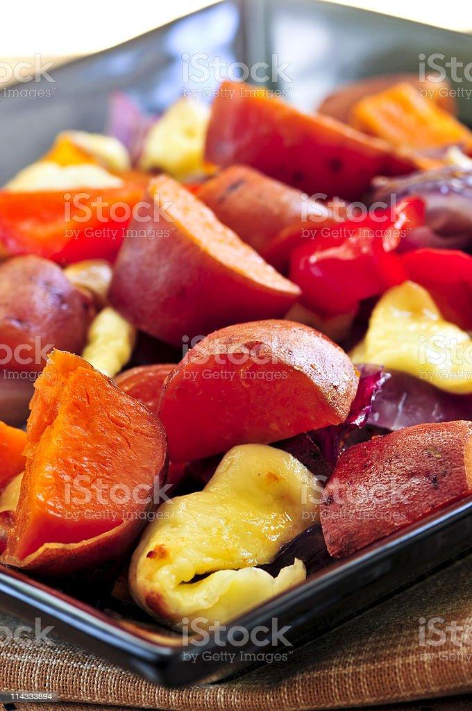 Roasted sweet potatoes royalty-free stock photo