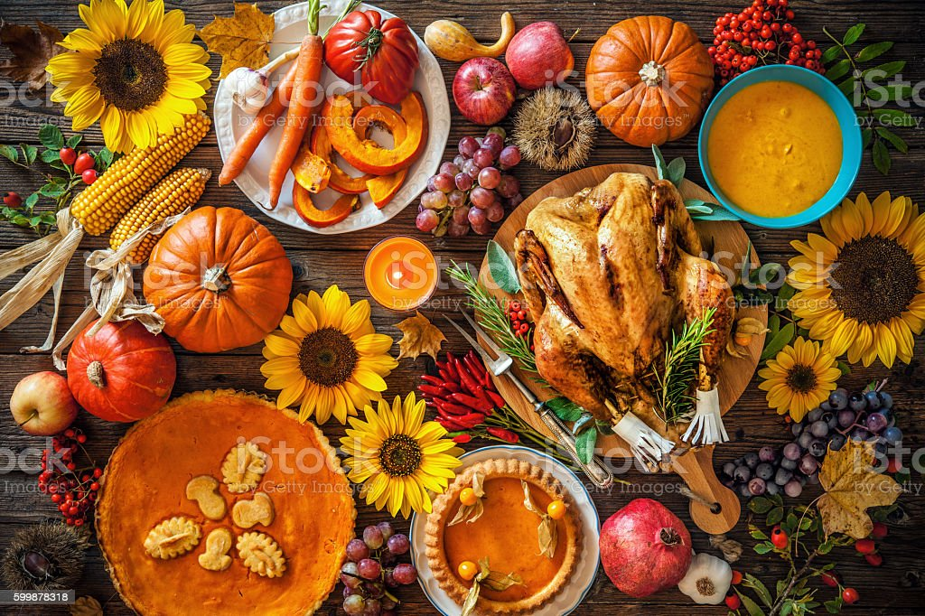 Roasted Thanksgiving Turkey stock photo