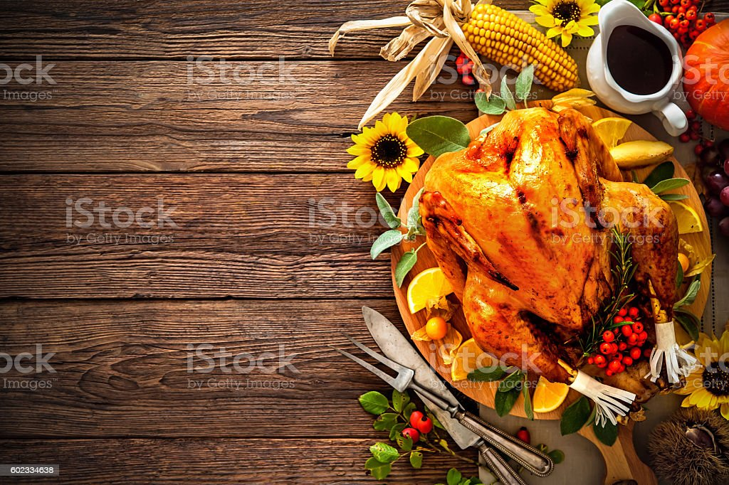 Roasted Thanksgiving Turkey stock photo