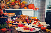 Roasted Thanksgiving Turkey with Side Dishes