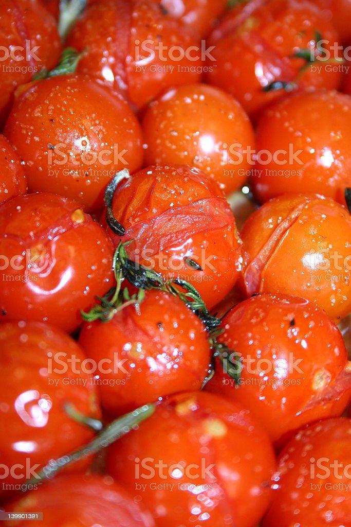 Roasted Tomatoes stock photo