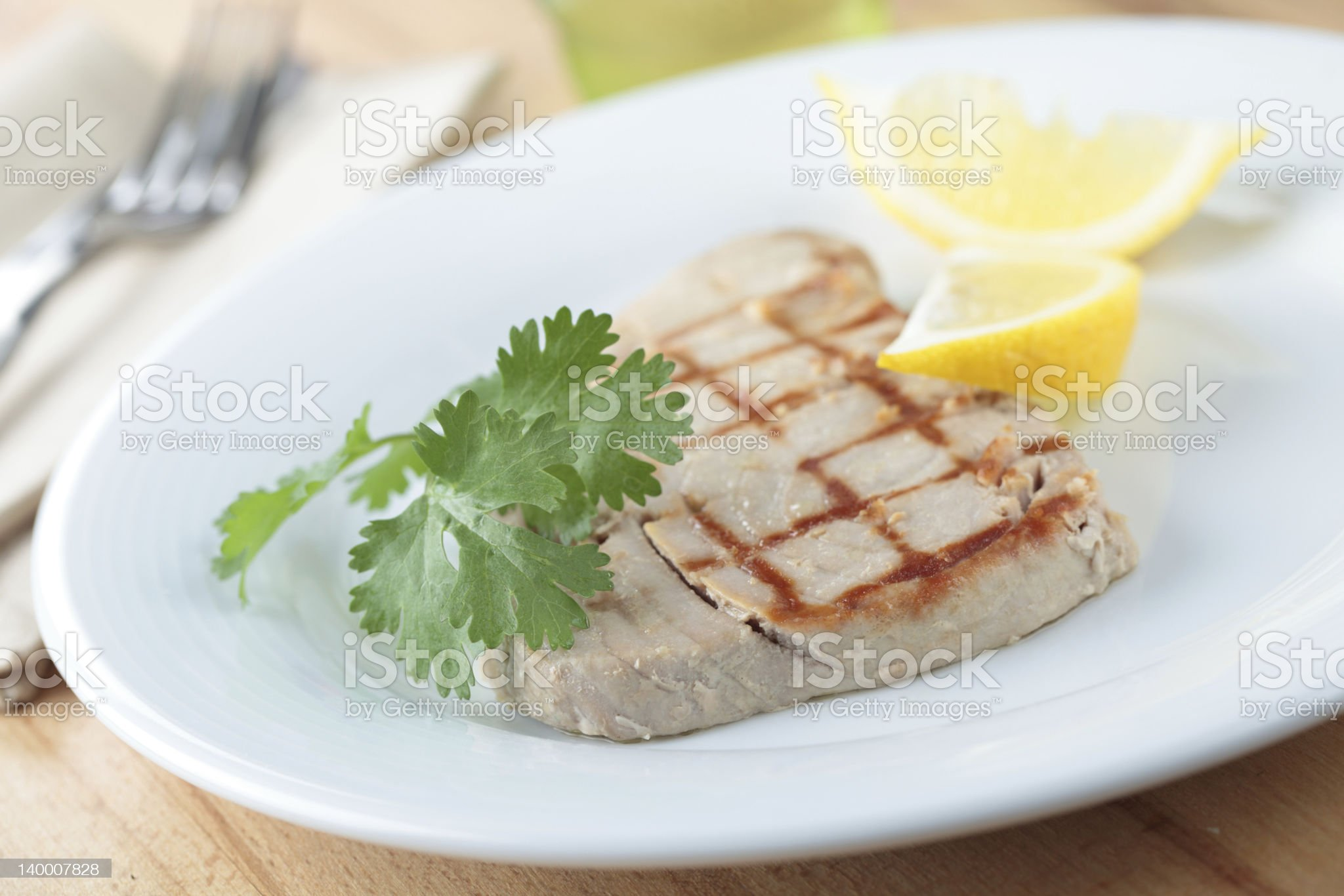 Roasted tuna steak royalty-free stock photo