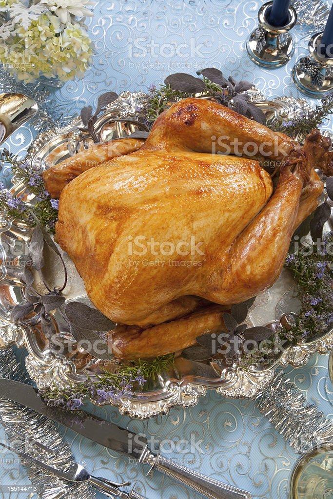 Roasted Turkey for White Christmas royalty-free stock photo