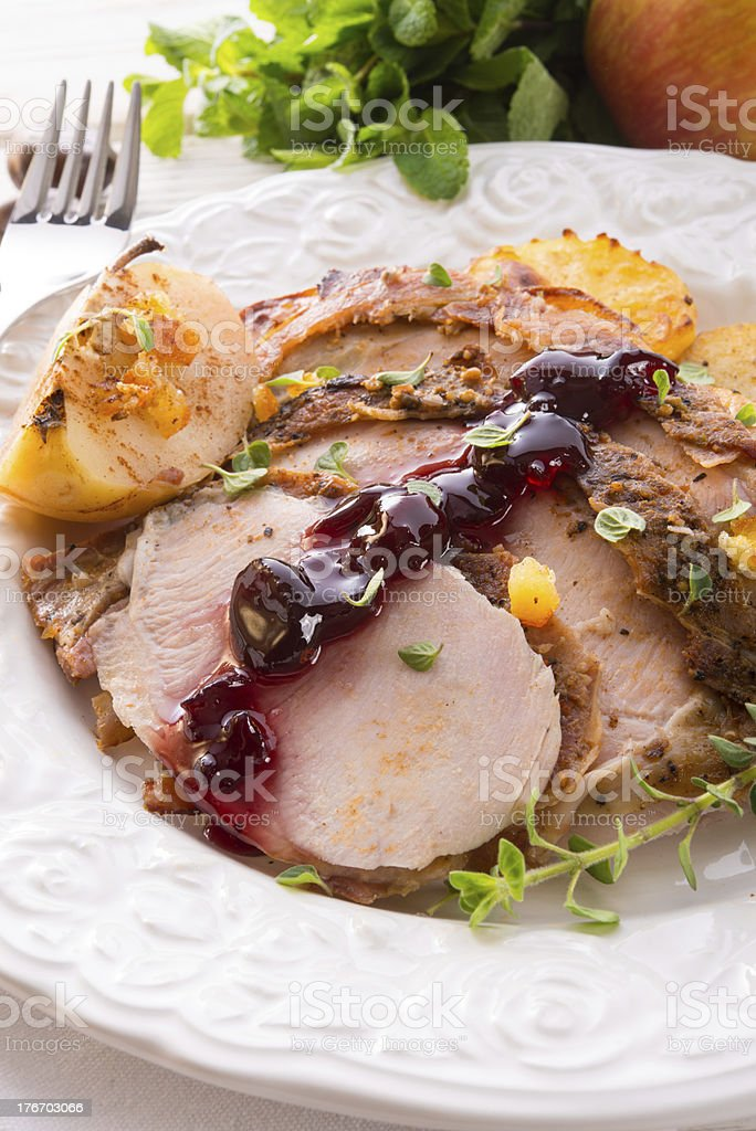 roasted turkey stock photo